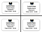 Simple Lunch Pass - Editable