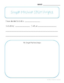 Simple Machine Building STEM Project