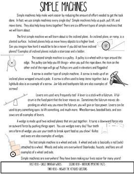 Simple Machine Close Read