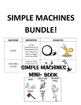 Simple Machines Mini Book and Cut & Paste Bundle!