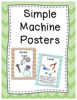 Simple Machine Posters