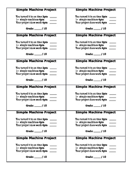 Simple Machine Project - Editable