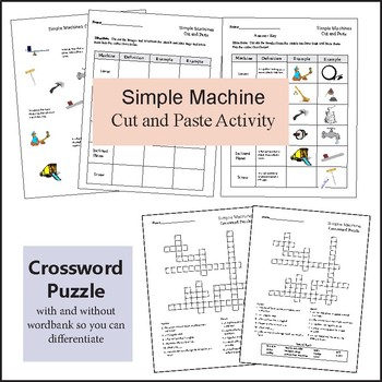 Simple Machine Resources and Worksheets