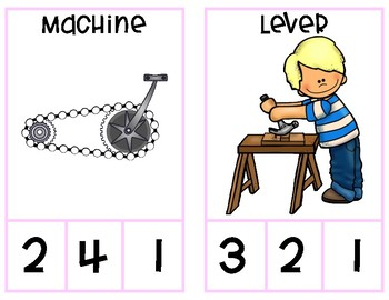 Simple Machine Syllable Clip Cards