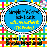 Simple Machine Task Cards with or without QR Codes