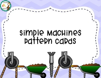 Simple Machine Themed Pattern Cards