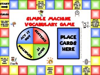 Simple Machines Vocabulary Game