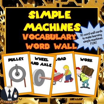 Simple Machine Vocabulary Word Wall