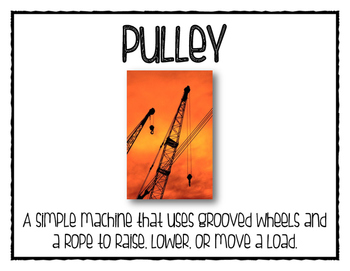 Simple Machine Word Wall Posters