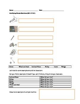 Simple Machine Worksheet Set