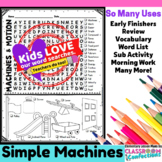 Simple Machines Activity: Simple Machines Word Search
