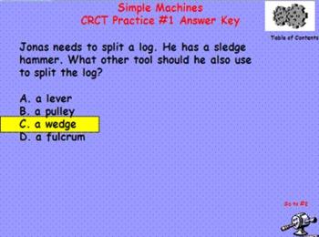 Simple Machines 4th Grade CRCT Practice