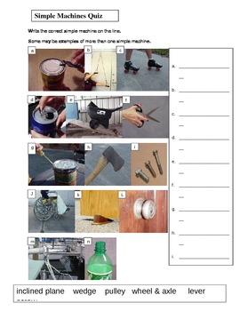 Simple Machines Activities