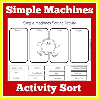 picture about Simple Machines Printable Worksheets known as Uncomplicated Tools Worksheet Game through Eco-friendly Apple Courses TpT