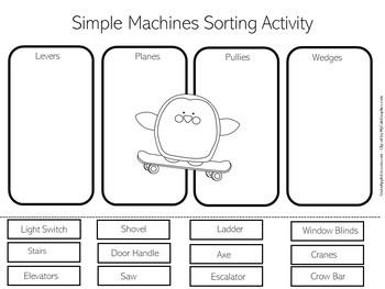 Simple Machines Worksheet | Simple Machines First Grade