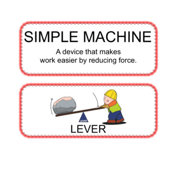 Simple Machines Anchor Chart Posters and Wordwall