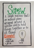 Simple Machines Anchor Charts