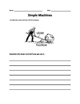 Simple Machines Assessment