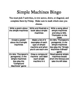 "Simple Machines ""Bingo"""