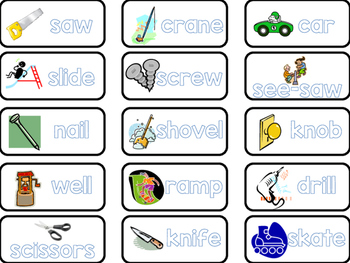 Simple Machines Book Labels