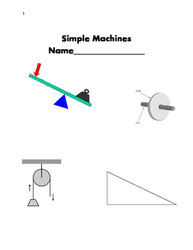 Simple Machines Booklet