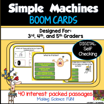 Simple Machines Boom Cards Distance Learning