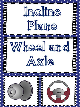 Simple Machines Bulletin Board or Mini Anchor Charts Set