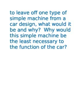 Simple Machines Carousel Questions