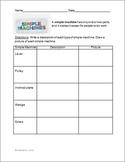 Simple Machines Chart Organizer