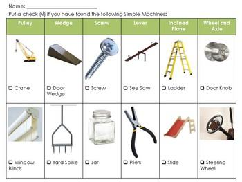 Simple Machines Checklist