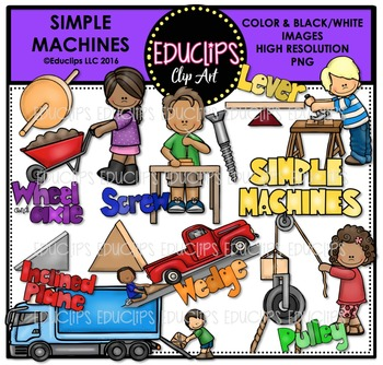 Simple Machines Clip Art Bundle {Educlips Clipart}