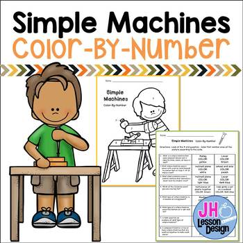 Simple Machines Color-By-Number