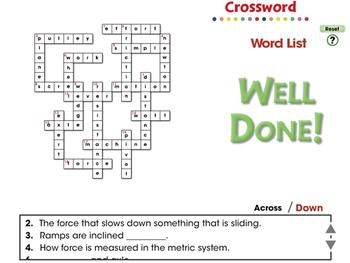 Simple Machines: Crossword - MAC Gr. 5-8