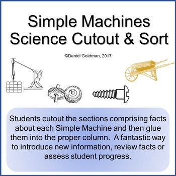 Simple Machines Cutout Sort and Paste Grades 4-5