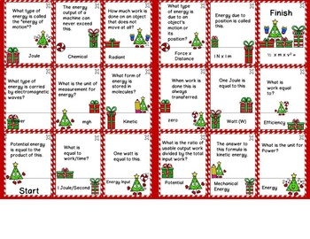 Work and Energy Differentiated Domino Style Matching  -Path to the Presents