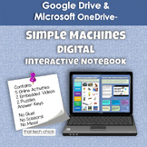 Simple Machines Digital Interactive Notebook   Distance Learning