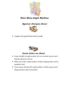 Simple Machines Diner Menu