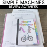 Simple Machines Sketch Notes Graphic Organizer Review Activity