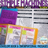 Simple Machines | Envelope Book | Simple Machines Worksheets