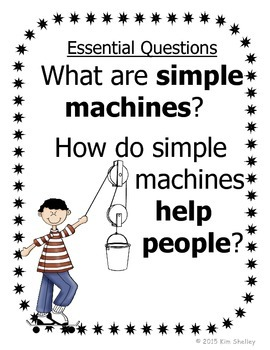 Simple Machines Essential Questions and Journal Cover
