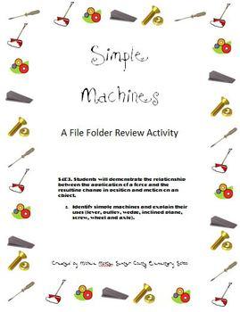 Simple Machines File Folder Activity