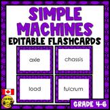 Simple Machines Flashcards - Editable