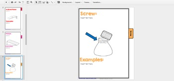 Simple Machines Digital Google Classroom Flip Book Activity