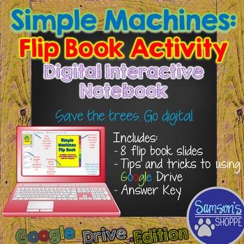 Simple Machines Digital Google Classroom Flip Book Activity