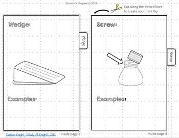 Simple Machines Flip Book Review Activity