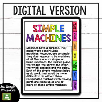 Simple Machines Flipbook