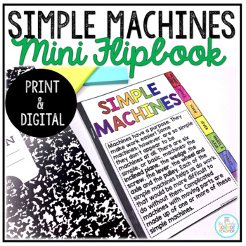 Simple Machines Flipbook (Physical Science)