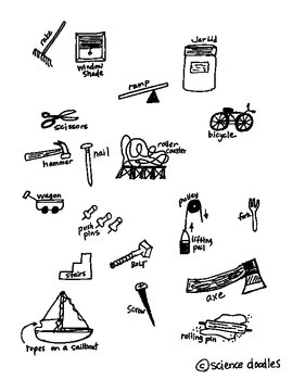 Simple Machines Interactive Notebook Foldable by Science Doodles