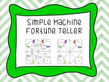 Simple Machines Fortune Teller Organizer