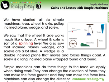 Simple Machines: Gains and Losses with Simple Machines - PC Gr. 5-8